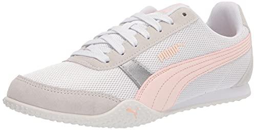 PUMA Women's Bella Sneaker, White-Cloud Pink, 6.5