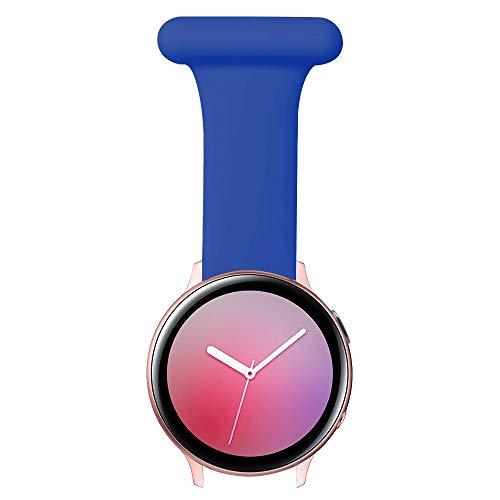Vozehui Pin Fob Armband Kompatibel für Fitbit Versa/Versa 2/Versa Lite/Samsung Galaxy Active 3 45 mm/22 mm Uhr mit Anti-Epidemie Design Armband für Krankenschwestern Hebammen Ärzte Sanitäter