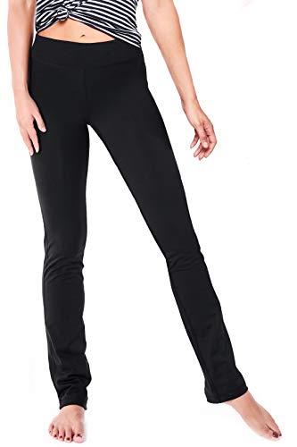 Yogipace 27'/29'/31'/33'/35'/37', Petite/Regular/Tall Women's Straight Leg Yoga Pants Workout Pants Slim Fit, 27', Black, Size M