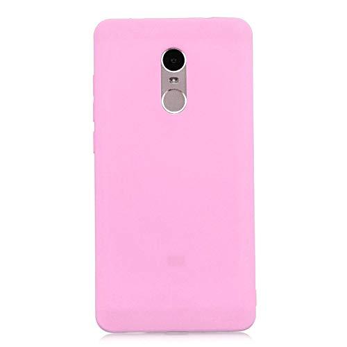 cuzz Protector Funda Xiaomi Redmi Note 4,con [Protector Pantalla Completa],360 Grados Delgada Flexible con Antichoque Silicona Suave Shell-Rosa