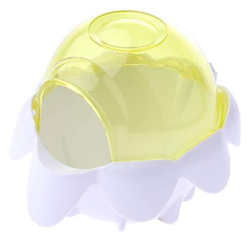 Baoblaze Hámster Baño Inodoro Tina de Plástico Lavabo para Mascotas Pequeño - Amarillo, Individual