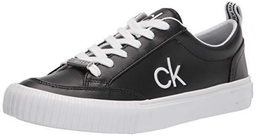 Calvin Klein Women's Lariss Sneaker, Black, 8