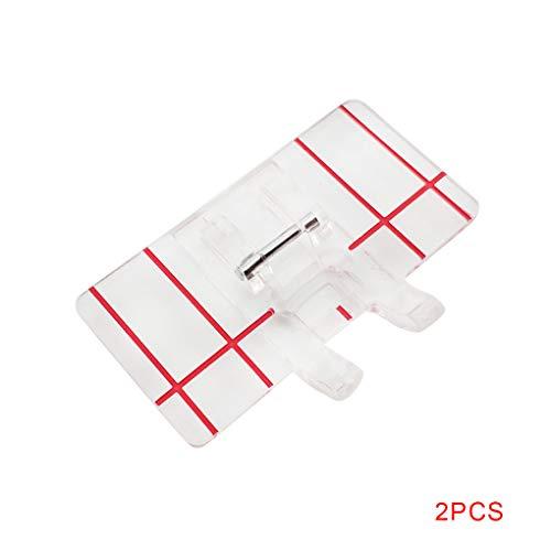 heacker 2pcs Paralelo Transparente Coser prensatelas hogar multifunción Máquina de Coser Recta Costura Costura El pie