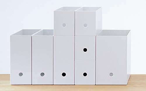 無印のファイルボックスはサイズが豊富なので、入れるものの容量に合わせて選べるのがうれしいポイント。必要に合わせて増やしていけるので、少しずつ買いそろえていくといいかもしれませんね。
