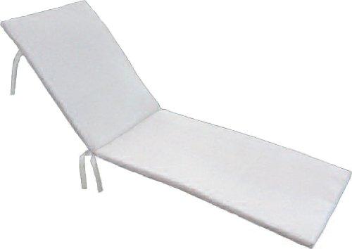 Maffei art890bianco Pool Coussin de Haute Technologie Textile perméable, Transpirant, 180X58X5 cm. Fabriqué en Italie, Blanc