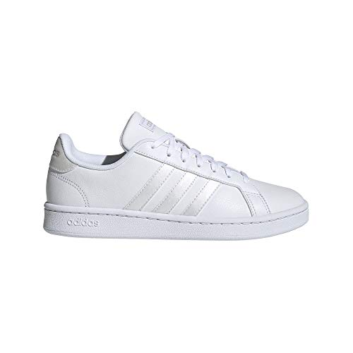 adidas Women's Grand Court Track and Field Shoe, FTWR White/Grey Two, 8 Standard US Width US