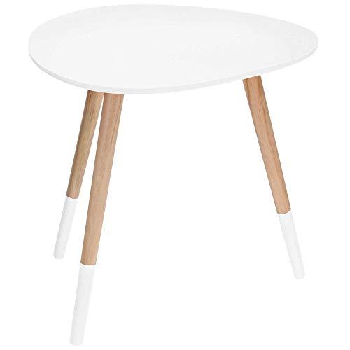 Table d'appoint rein Table C141 Blanc 48 x 40 cm Table basse Table de téléphone