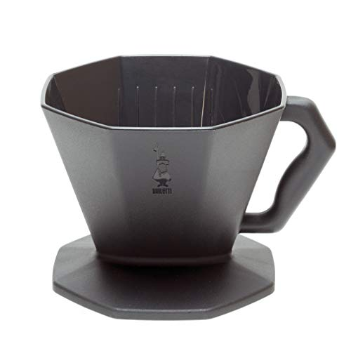 BialettiPOUR OVERCoffee Pour Over, 4 Cup, Black, CM985