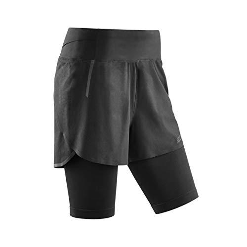 CEP – Run 2IN1 Shorts 3.0 für Damen | Kurze Sporthose mit Kompression in schwarz | Größe V