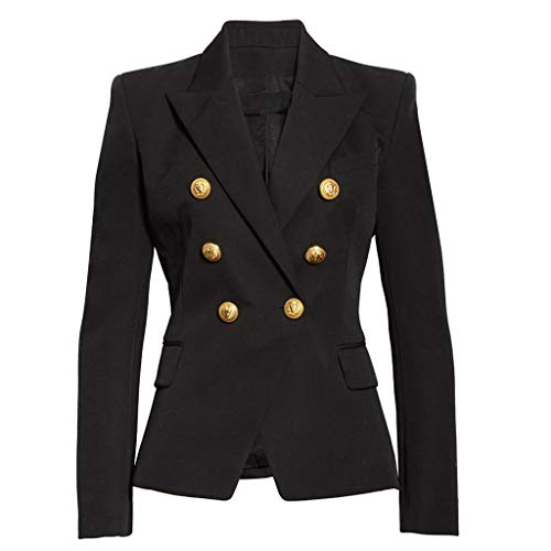 TEFIIR Weihnachtseinkaufe Damen Blazer Cardigan Double-Breasted Lang Ärmel Elegant Casual/Business Jacke Blazer Slim Fit Anzug Trenchcoat