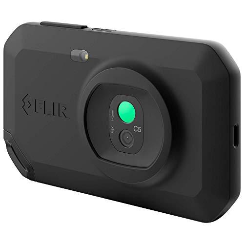 FLIR C5 Termocamera professionale potente e compatta con Wi-Fi, misura temperature fino a 400°C (752°F), touchscreen 3,5', tecnologia brevettata MSX