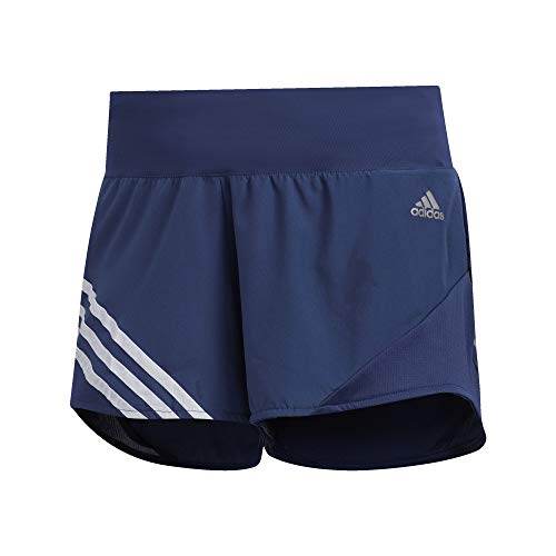 adidas Run It - Pantalón corto para mujer con 3 rayas - HAL28, Corto Run It de 3 rayas, Medium 3', Tech índigo