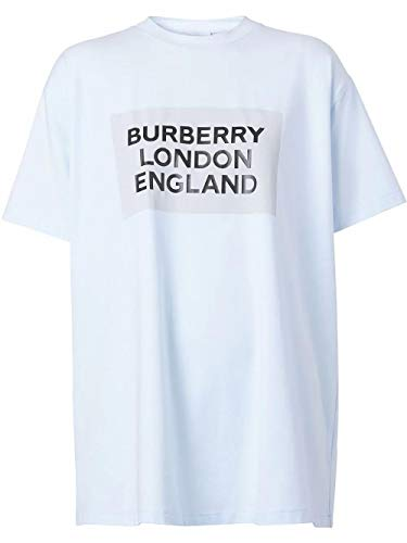 BURBERRY Luxury Fashion Damen 8026475 Hellblau Baumwolle T-Shirt | Frühling Sommer 20