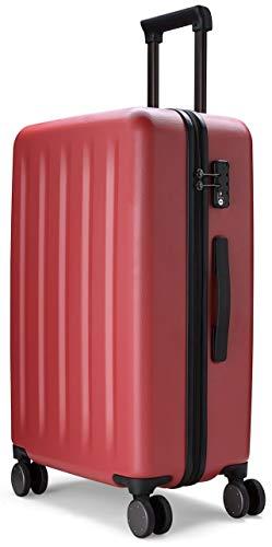 90FUN Maleta de Cabina rígida I Equipaje de Mano Ligero 4 Ruedas con Cerradura TSA I 55,5 x 37,5 x 22,3 cm I Rojo
