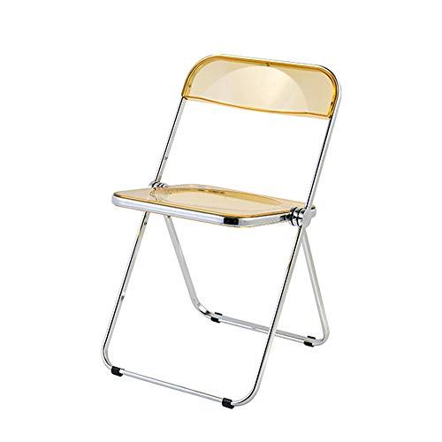 Folding Chairs Sedia Trasparente Sedia Pieghevole Sedia da Pranzo Sgabello Sedia da Esterno Portatile Sedia da scrivania Sedia da Ufficio