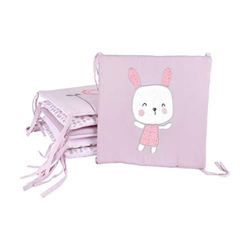 HengST Bettumrandung Baby Nestchen Weich Baumwolle Bettnestchen Kissen für Babybett mit Muster Universal geeignet für Jungen und Mädchen 30x30 cm, 6 St. Set #1 30x30cm
