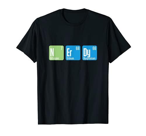 Nerdy Chemie Geek Mathe - Ordenador de sobremesa Camiseta