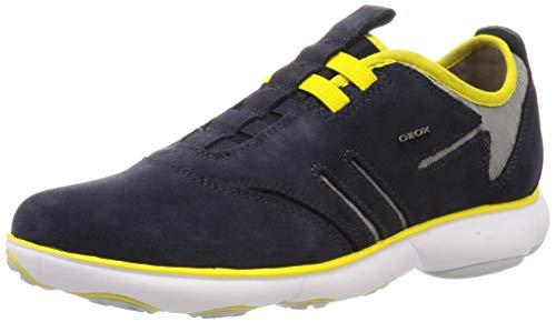 Geox U Nebula F, Zapatillas de Deporte Hombre, Navy Yellow C4054, 42 EU