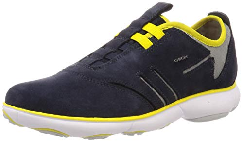Geox U Nebula B, Zapatillas de Deporte Hombre, Azul (Navy/Yellow C4054), 45 EU