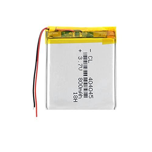 ZhanMazwj 3.7v 404045 800mah Li-Po batería de iones de litio, recargable para el banco de energía de luz del libro electrónico LED 1piece