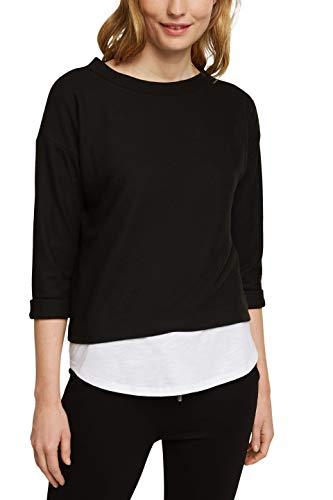 Esprit 090EE1J312 Sweatshirt Damen, Schwarz (001/BLACK), L