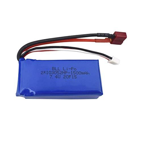 F-Mingnian-rsg Accessori per Batteria Drone Batteria al Litio da 7, 4 V 1500 mAh per WLTOYS A959- B A969- B A979- B K929- B 144001 Batteria per Veicoli Fuoristrada con Ricarica remota RC