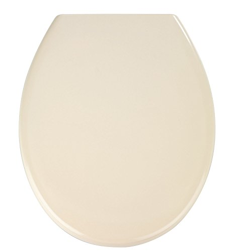 WENKO Premium WC-Sitz Ottana Beige - Antibakterieller Toilettensitz, Absenkautomatik, rostfreie Fix-Clip Hygiene Edelstahlbefestigung, Duroplast, 37.5 x 44.5 cm, Beige