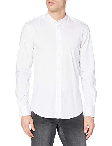 Antony Morato MMSL00376-FA450001 Camicia Casual, Bianco (Bianco 1000), Medium (Taglia Produttore:48) Uomo