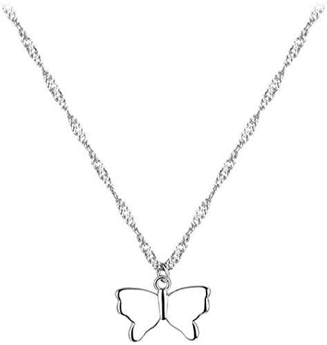 DUEJJH Co.,ltd Collar Mariposa Collar Colgante clavícula Cadena Collar de Mujer