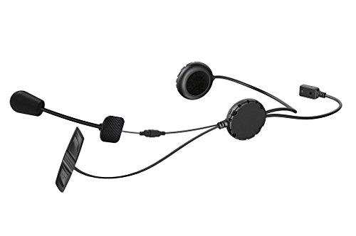 Sena 3S-WB Auricular Bluetooth e intercomunicador para Motos y Scooters Kit micrófono con Brazo y Cable, Negro