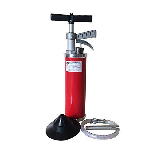 TongNS1 Sturalavandino Ad Aria Compressa Pistone A Alta Pressione Draga Drenatore Scarico Pulitore Pompa con 1 Testa di Conversione per WC Lavello Pavimento Lavabo Bagno