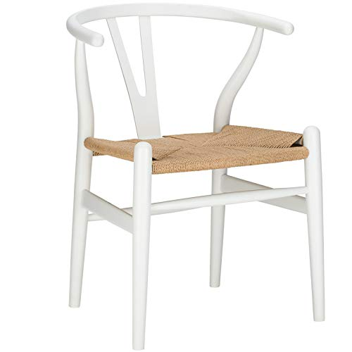 Poly and Bark Weave Chair in White