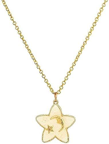 YOUZYHG co.,ltd Collar Mujer Collar romántico Dulce Lindo Forma de Estrella y Luna Collares Pendientes para Mujeres y niños Adornos de Cuello Accesorios