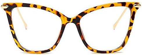 RJGOPL des lunettes de soleil Leonlion oculos de olho de gato quadrosconception de la marque oculos quadro feminino métal transparent grand quadro vintage faux oculi Léopard