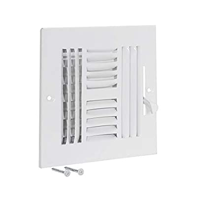 EZ-FLO 61617 Four-Way Steel Ventilation Steel Sidewall or Ceiling Air Register