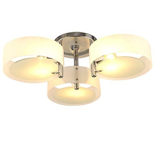 ZHLJ Araña de acrílico con 3 Luces, Pantalla de luz Colgante Moderna, Montaje Empotrado, E27
