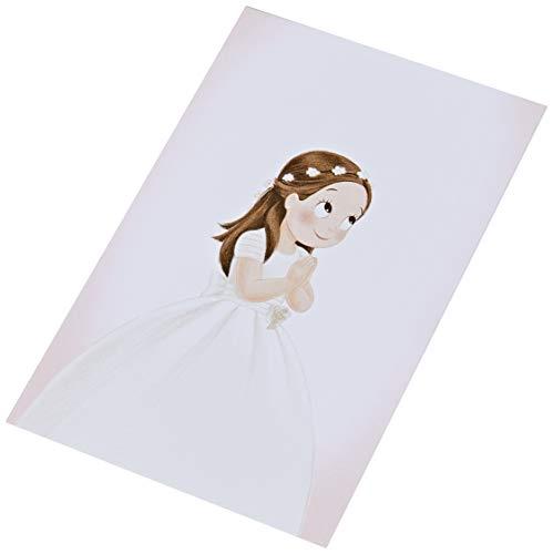 Mopec X931 Estampa niña Comunión vestido largo, Pack de 25, Cartulina, Multicolor, Talla única