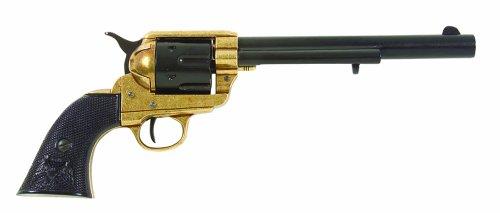 Deko Waffe 45er Colt, USA 1873, messingfarbend