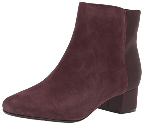 Clarks Women's Chartli Valley Ankle Boot, Burgundy Suede, 50 M US