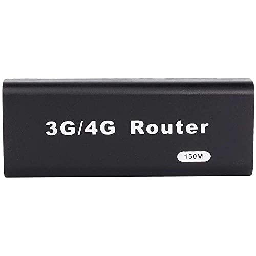 Yuyanshop Mini router WiFi, enrutador inalámbrico USB, mini router WiFi 3G/4G, 150 Mbps, compatible con todo el sistema operativo, Plug and Play (negro)