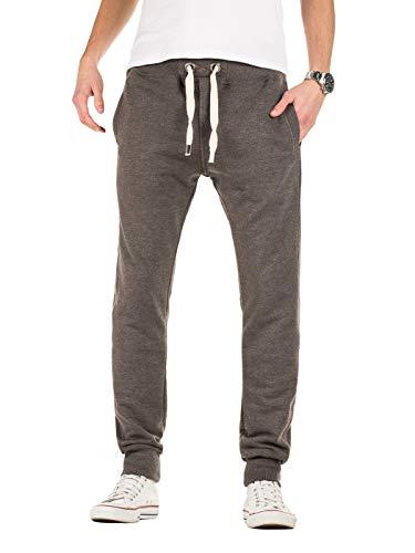 Yazubi Edward - Pantaloni Tuta Uomo Cotone Slim Sweatpants Jogging Sportivo Scuro, Grigio (Dark Gull Gray 180403), S