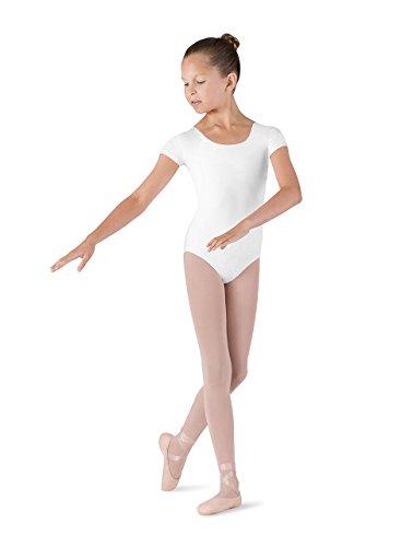 Bloch Dance Mädchen Dujour Microlux Trikot Kurzarm L weiß