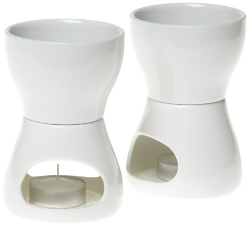 Norpro 213 Porcelain Butter Warmer, 2pc set, 4 x 7 x 4 inches, As Shown
