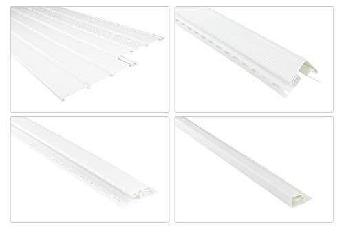 RAINWAY Kunststoffpaneele & Zubehör weiß - Verkleidung von Dachüberständen, Decken- & Wandflächen - (1 Paneel, 2m standard) Dachkasten Dachübertstand