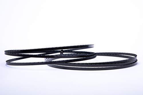Lot de 2 lames de scie à ruban Encut haute performance - 1425 x 6 x 0,65 mm - 10 dents par pouce