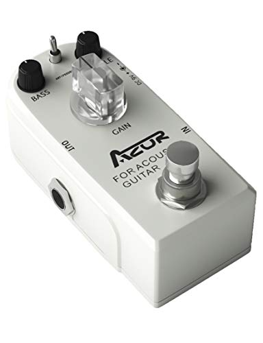 AZOR Acoustic Guitar Effect Pedal with True Bypass for Acoustic Guitar Super Mini White AP318