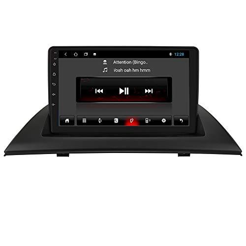 Android 10 Car Radio Estéreo con Pantalla táctil capacitiva de 9 Pulgadas para B-M-W X3 E83 2004-2012 Soporte de navegación GPS Conexión USB Control de Rueda de CD Cámara retrovisora Bluetooth