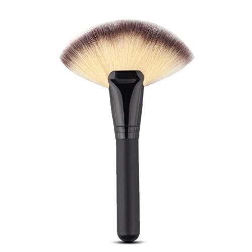 Gros gros ventilateur pinceau outils de maquillage de maquillage de ventilateur tête de ventilation glissière contour de cachette poudre blush paupière nez brosse de tampon