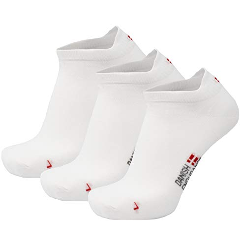 DANISH ENDURANCE Low-Cut Sportsocken (Weiß - 3 Paare, EU 43-47)