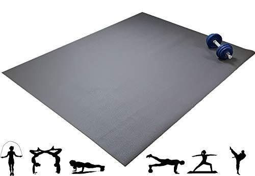 Q324® Jump die große rutschfeste Fitnessmatte - 160x120cm Oeko-Tex Trainingsmatte in Natural Brown Made in Germany